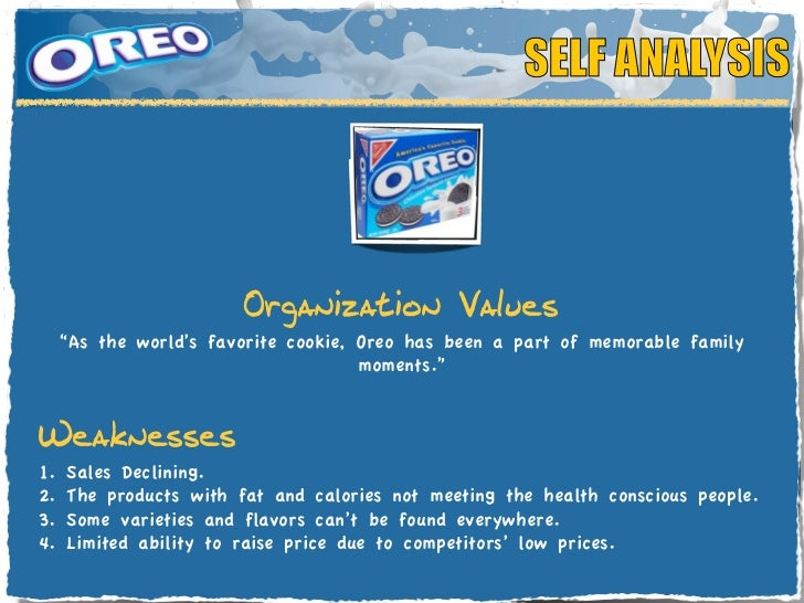oreo swot The article is based on lego swot analysis, which can be found in the library, in cayenneapps swot application it was 2003 and the lego group, one of the most famous toy producers in the world, was on the brink of a gigantic crisis the company was producing more and more, but the losses were also .
