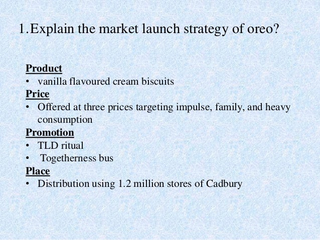 oreo promotion and price analysis Jenny zegler, a food and beverage industry analyzer in mintel international group, concluded the global beverage market trend in 2018 as predicted by mintel.