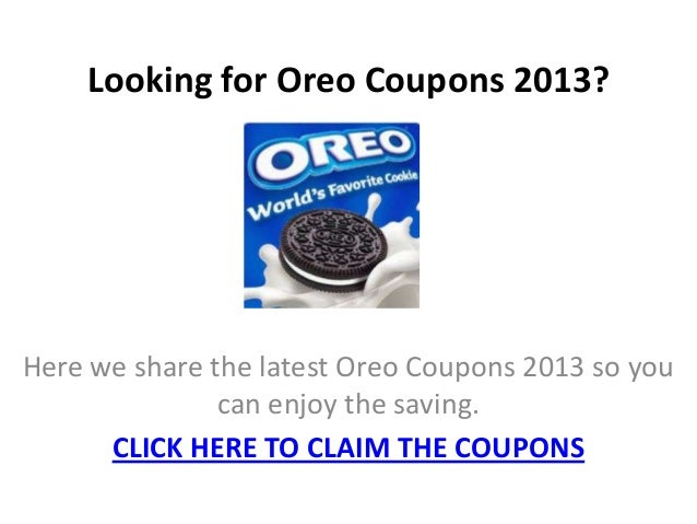photograph relating to Oreo Printable Coupons referred to as Oreo cookie coupon codes