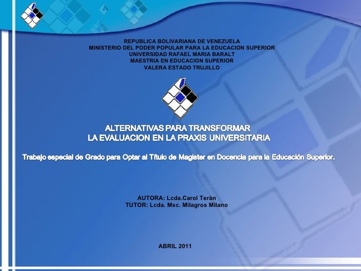 REPUBLICA BOLIVARIANA DE VENEZUELAMINISTERIO DEL PODER POPULAR PARA LA EDUCACION SUPERIOR             UNIVERSIDAD RAFAEL M...