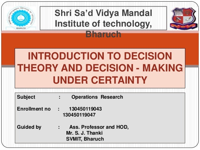 decision theory and house Ik-whankwonet al decision theory approach to establishing an in-house histology laboratory in small hospitals limitation although it is evident that an in-house histology laboratory.