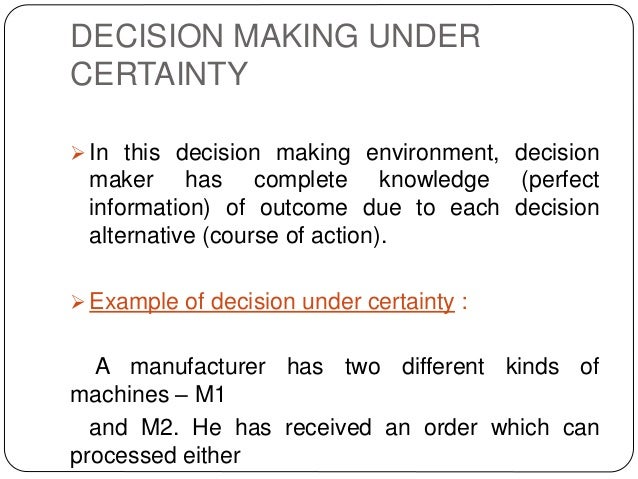 Managerial Decision-Making Under Risk and Uncertainty