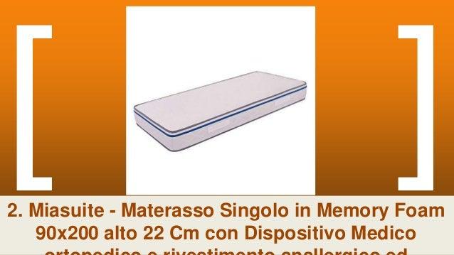 MATERASSO SINGOLO MEMORY 90x190 alto 20cm Sunrise 2 Strati ERGONOMICO Antiacaro