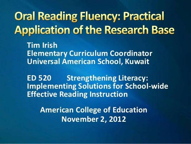 reading fluency exploration articles