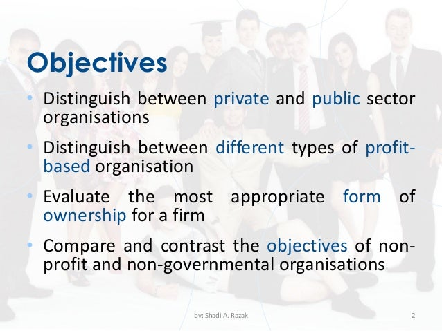 private sector and public sector business plans