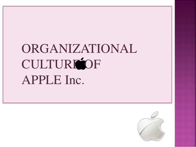 organizational culture of apple