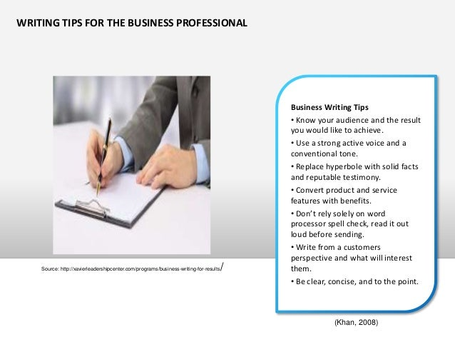 3x3 writing process for business communication
