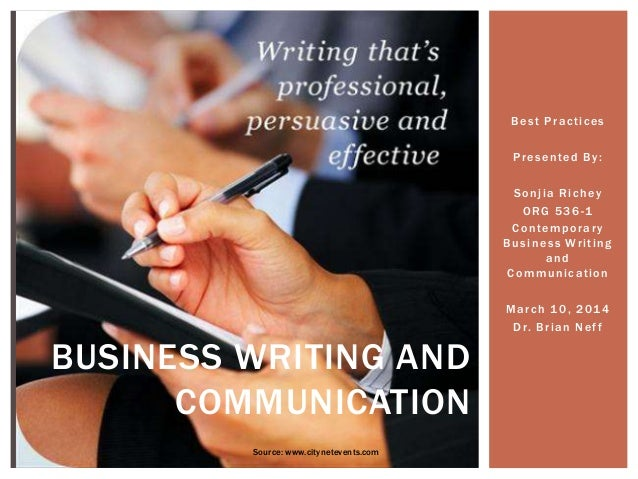 essay about business communication