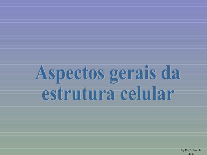 Aspectos gerais da estrutura celular by Prof.  Lenoir  2011