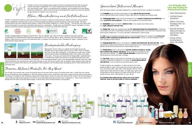 Organic Hair Color Product Brochure