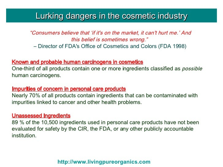 cosmetic industry problems