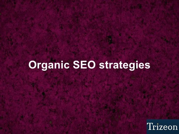 Organic SEO strategies