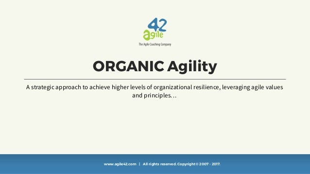 www.agile42.com | All rights reserved. Copyright © 2007 - 2017. ORGANIC Agility A strategic approach to achieve higher lev...