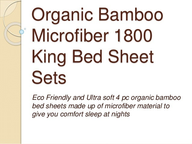 Organic Bamboo Microfiber 1800 King Bed Sheet Sets Eco Friendly And Ultra  Soft 4 Pc Organic ...