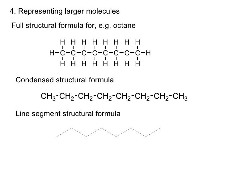 how to draw condensed structural formulas