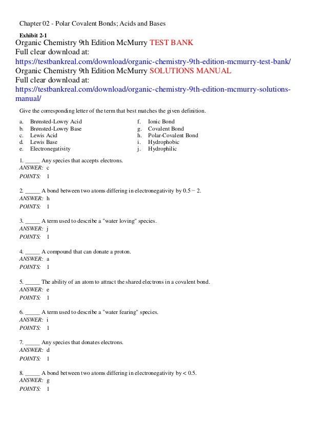 mcmurry 9th edition organic chemistry pdf