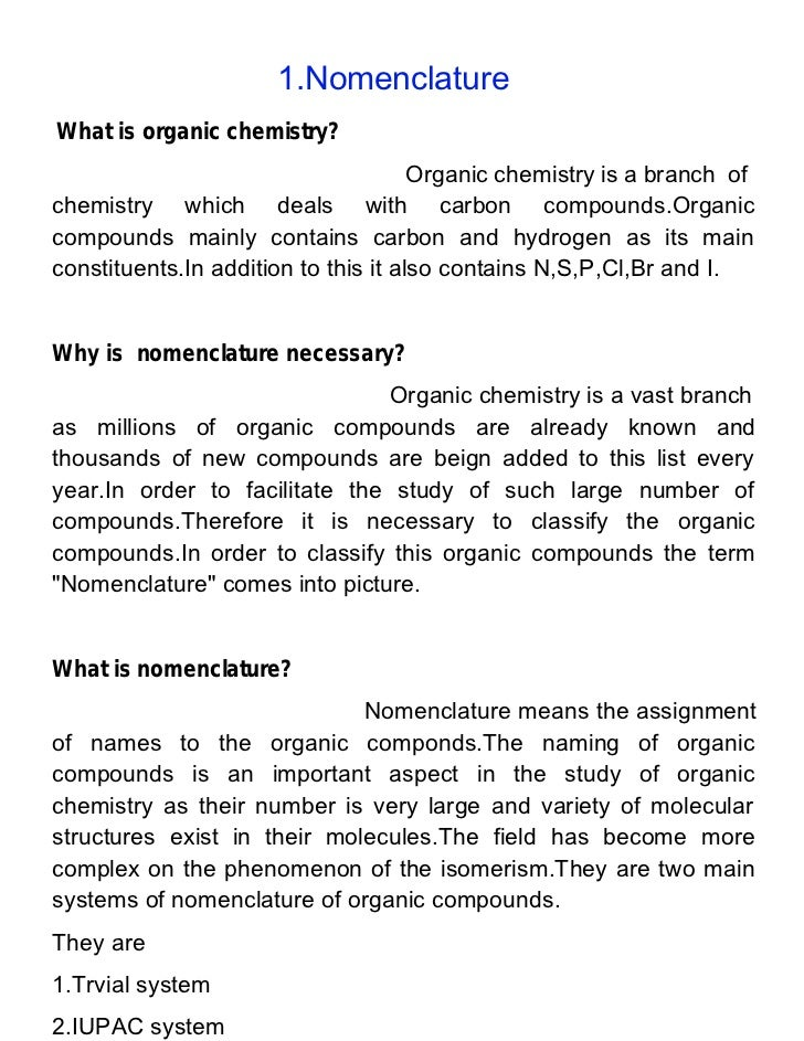Learn organic chemistry nomenclature appendicitis