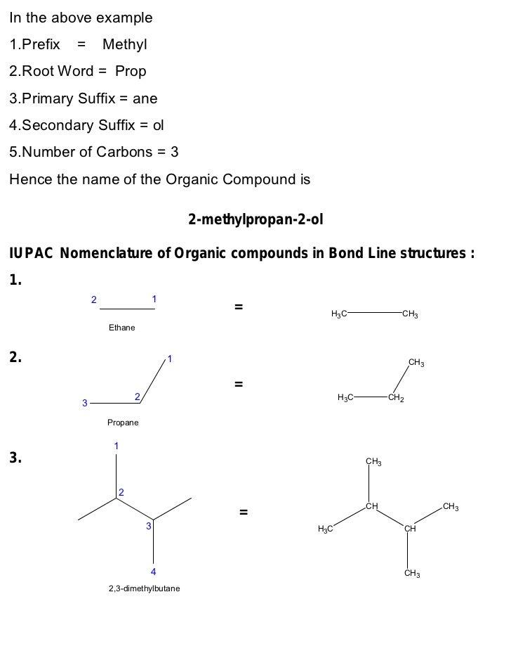 Nomenclature examples.