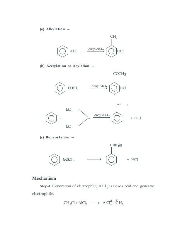 Organic chemistry reaction mechanisms