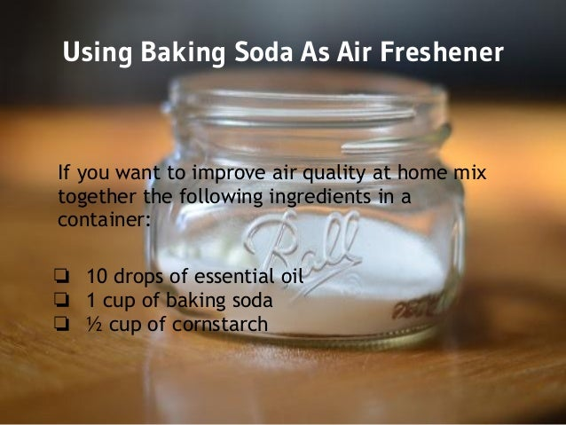 Organic cleaning with baking soda 4 recipes for Baking soda air freshener recipe