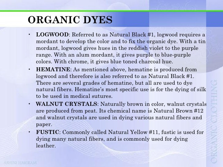 ORGANIC DYES• BRAZILWOOD: Brazilwood generates an earthy red tone that  can be readily used for dying leather and other na...