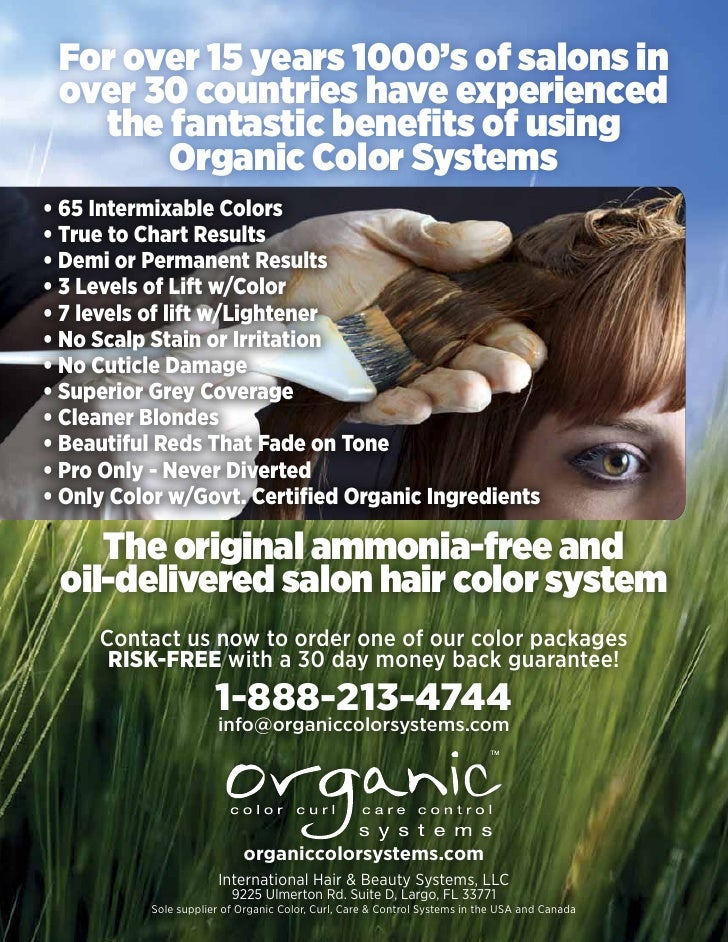Professional Hair Color Information Pack By Organic Color Systems