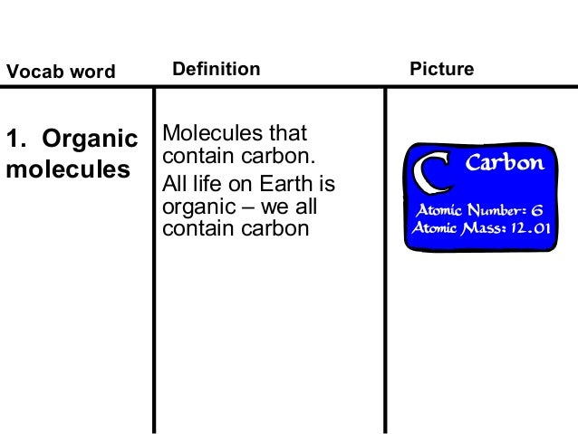 a description of organic compounds as the basis of life on earth Organic compounds are important because all living organisms (redundant) contain carbon the three basic macromolecules of life are carbohydrates (ch_2o), fats (lipids) (cho) and proteins (chon.