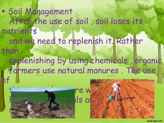 Organic farming for Soil management