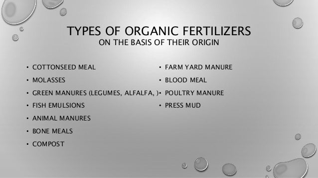 Organic Fertilizers & their impact on crop production