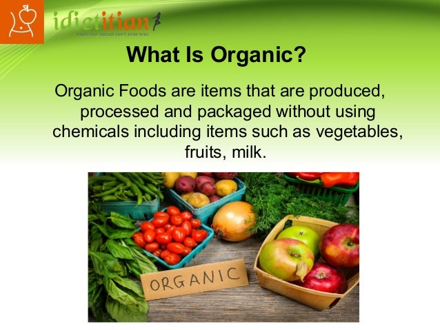 Organic Foods Benefits Environment