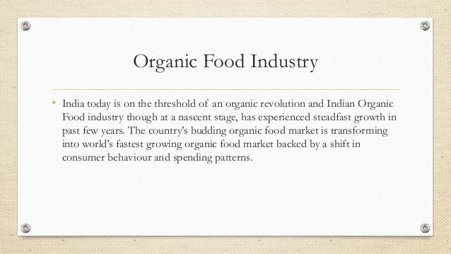 organic food industry analysis essay Industry analysis: the five forces cole sally linton department of food science overview assessing your potential in an industry by influencing the prices.