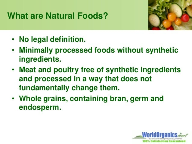 Organic Processed Foods Definition