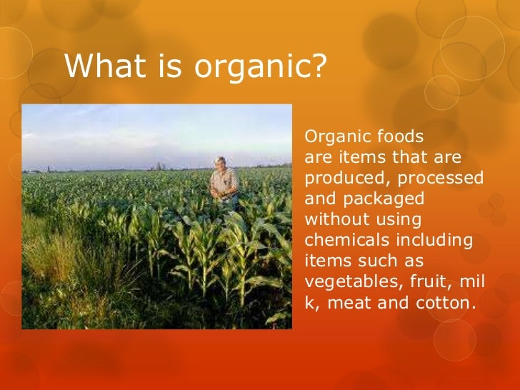 organic food vs non organic food essay