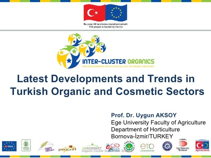 Prof. Dr. Uygun AKSOY Ege University Faculty of Agriculture Department of Horticulture Bornova-İzmir/TURKEY Latest Develop...