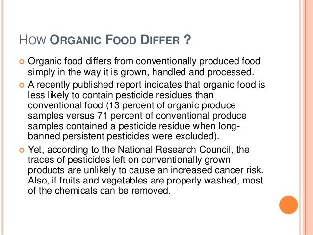 Organic food research paper thesis