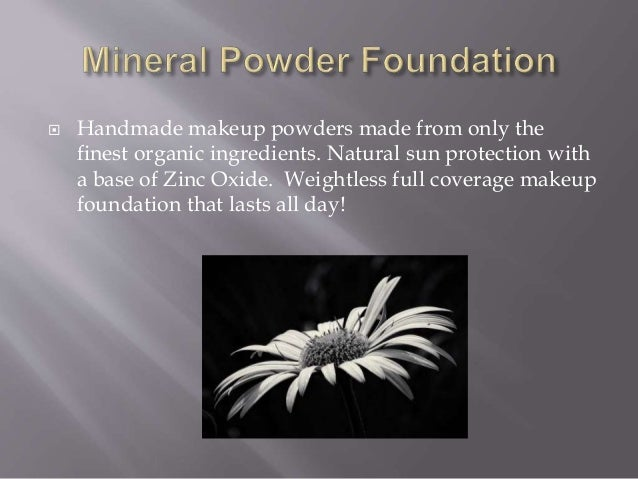 New Organic Powder Makeup Slide 2