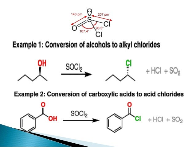 Conversion Of Alcohols To Halide