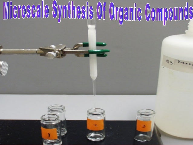 What is Microscale Chemistry? Why Microscale Chemistry? Basic Equipment. Synthesis of Aspirin. Synthesis of E –Benzal Synt...
