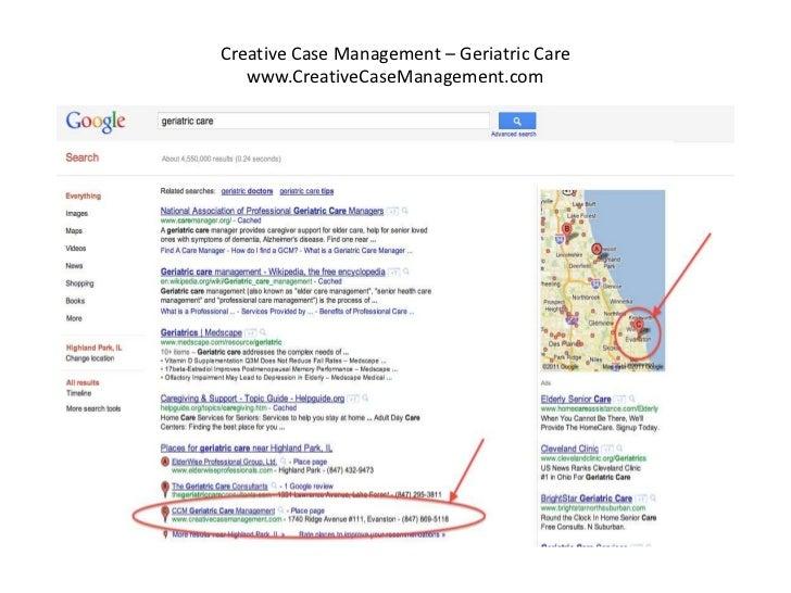 Creative Case Management – Geriatric Care   www.CreativeCaseManagement.com