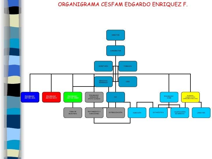 ORGANIGRAMA CESFAM EDGARDO ENRIQUEZ F.                                                                            DIRECTOR...