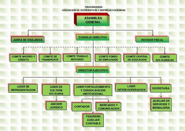 Organigrama Asocoph Mejorado