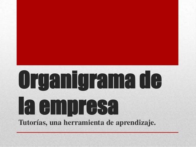 Organigrama dela empresaTutorías, una herramienta de aprendizaje.