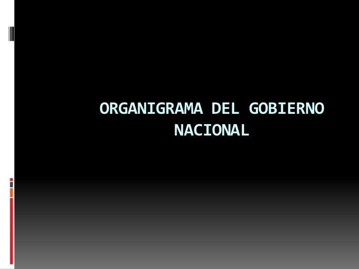 ORGANIGRAMA DEL GOBIERNO NACIONAL<br />