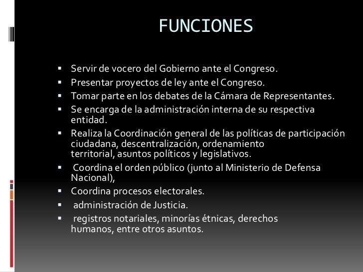 Organigrama del gobierno nacional en colombia for De que se encarga el ministerio del interior