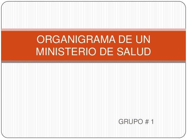Organigrama De Un Ministerio De Salud