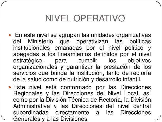 Organigrama de un ministerio de salud for Ministerio de salud peru