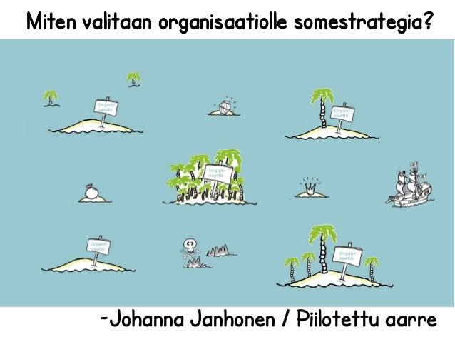Miten valitaan organisaatiolle somestrategia?       -Johanna Janhonen / Piilotettu aarre