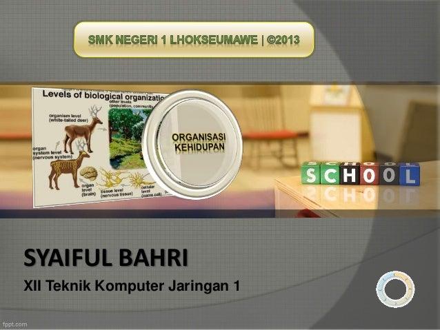 SYAIFUL BAHRI  XII Teknik Komputer Jaringan 1