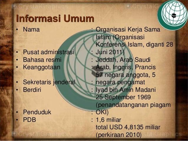 Organisasi kerjasama islam Slide 2