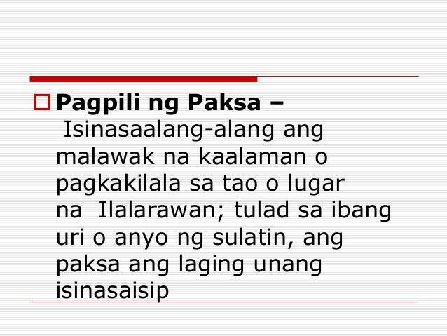 paksa ng paglalarawan Ang isang katangi-tangi sa olaging na ito ay ang paglalarawan sa tila-paraisong kalagayan ng nalandangan at sa malimit na ang paksa ng ulahingan ay ang.